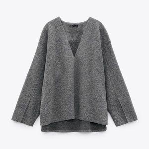 Zara wool blend top